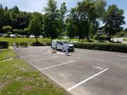 Bodenmarkierungen erneuern Parkplatz Velden